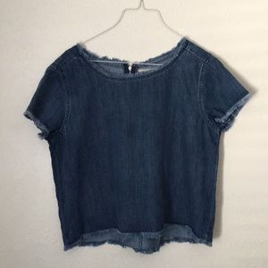 Anthropologie Cloth & Stone Chambray Top Size L